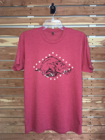 Arkansas Flag Vintage Hog Tee - Hometown Press | NTRL STMT | Catalyst | Print Local