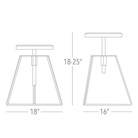 Greta de Parry Camp Stool Dimensions