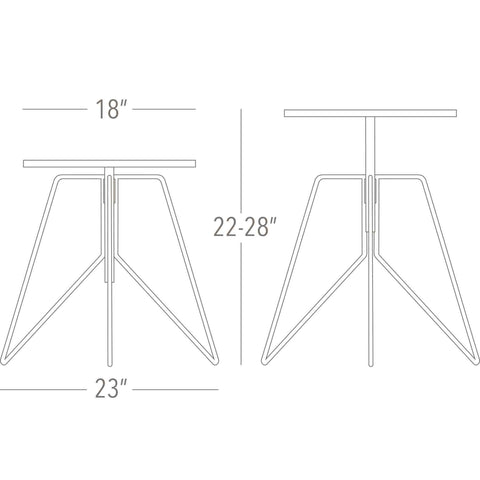 Greta de Parry Coleman Side Table Dimensions
