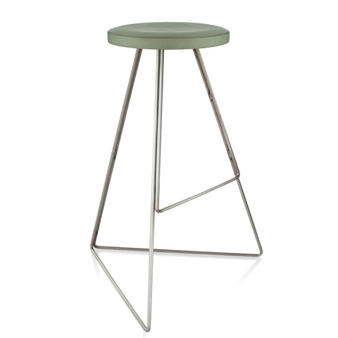 The Coleman Stool - Natural Steel Frame