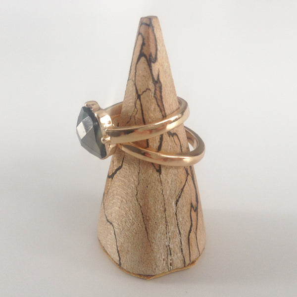 Spalted Maple Ring Pyramid