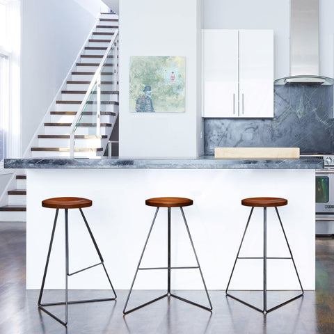 The Coleman Stool with Backrest by Greta de Parry. Contemporary Modern Furniture and Bar Stool.