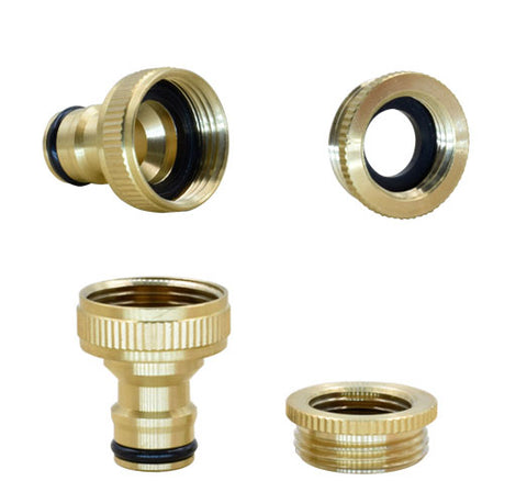 "Pair of Quick Connect Brass Fitting NPT 1/2"" & 3/4"""