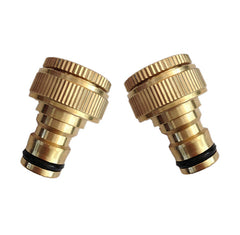 "Brass Garden Hose Quick Connectors NPT 1/2"" & 3/4"""