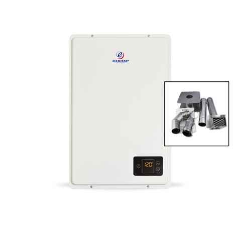 "Eccotemp 20HI Propane / Natural Gas Tankless Water Heater (w/ 3"" Horizontal Vent Kit)"