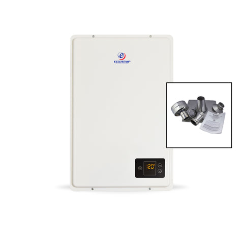 "Eccotemp 20HI Propane / Natural Gas Tankless Water Heater (w/ 3"" Vertical Vent Kit)"