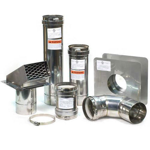 "Eccotemp 4"" Horizontal Vent Kit Parts"