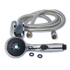 Chrome Shower Head and Stainless Steel Hose by outdoortankless.ca! This is compatible with Eccotemp L5 L7 and L10.