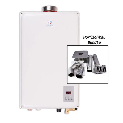 "Eccotemp 45HI Propane / Natural Gas Tankless Water Heater (w/ 4"" Horizontal Vent Kit)"