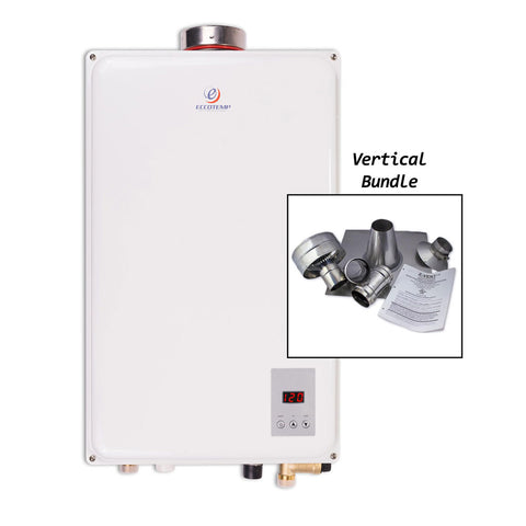 "Eccotemp 45HI Propane / Natural Gas Tankless Water Heater (w/ 4"" Vertical Vent Kit)"