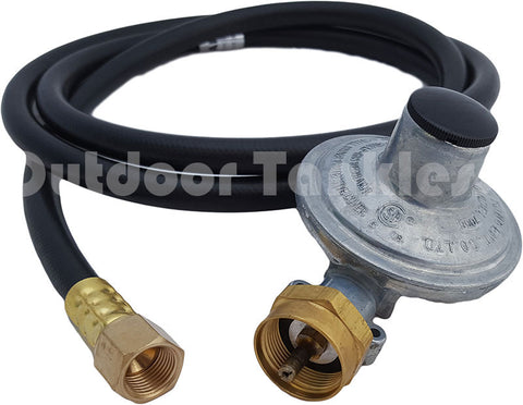 "Gas Regulator & Hose 3/8"" 6ft for 16oz Propane Canisters"