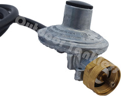 Propane Gas Regulator with Hose for 16-oz Canisters