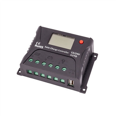 HQST 10AMP PWM SOLAR CHARGE CONTROLLER WITH LCD DISPLAY