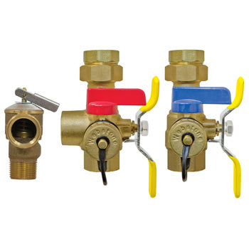 Webstone The Isolator® E-X-P E2™ Clean Brass™ H-44443WPR 4444 Tankless Water Heater Service Valve Kit