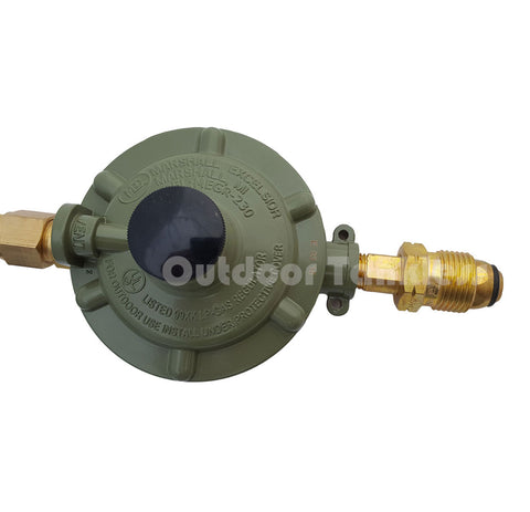 "Gas Regulator & Hose 3/8"" for 100/400 lb Propane Tanks"