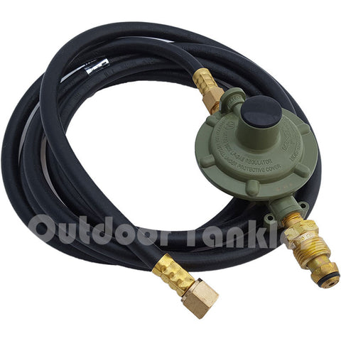 Propane Gas Regulator and Hose for 100/400-lb Tanks
