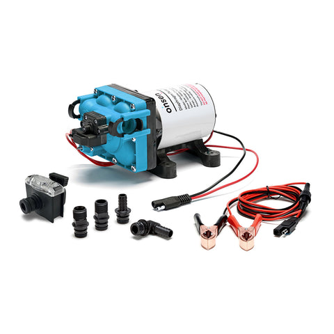 Onsen 10L Portable Propane Water Heater with 12V Pump