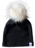 Black Fur Pom Toque