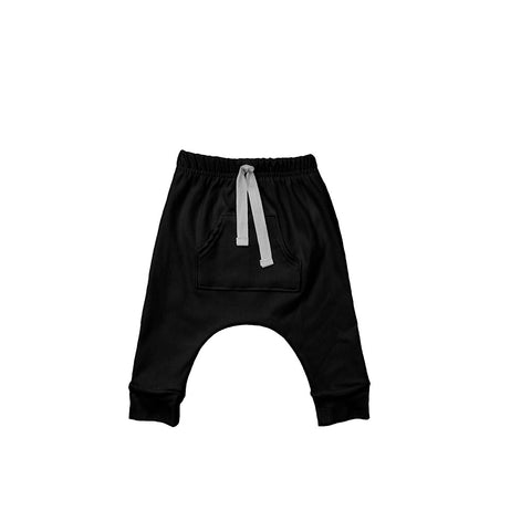 Front Pocket Harems Black
