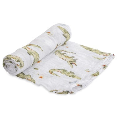 Little Unicorn Gators Swaddle