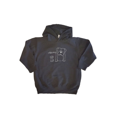 Rufus and Murdog Hooded Pullover