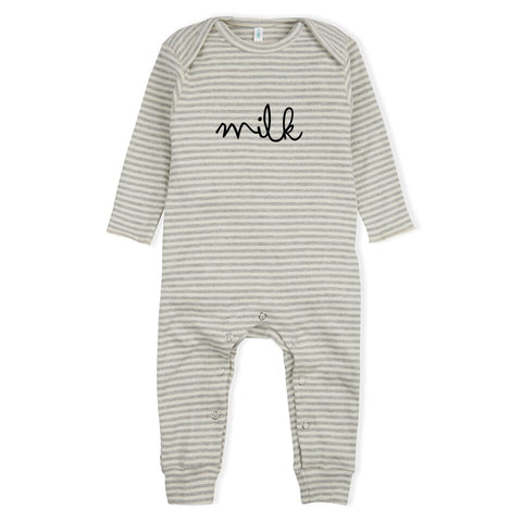 Milk Stripe One Piece