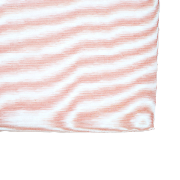 Pink Pencil Stripe Crib Sheet