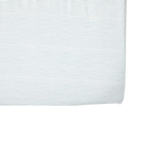 Blue Pencil Stripe Crib Sheet