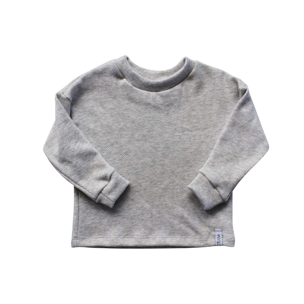 Heather Grey Drop Long Sleeve Sweater