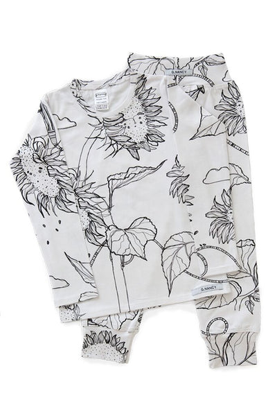 White Sunflower Long PJ