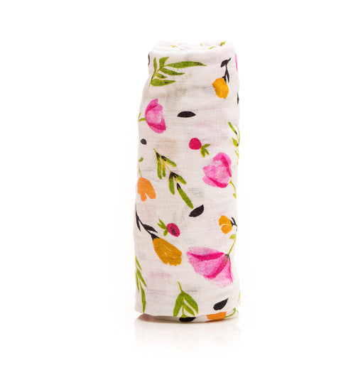 Little Unicorn Berry & Bloom Cotton Swaddle
