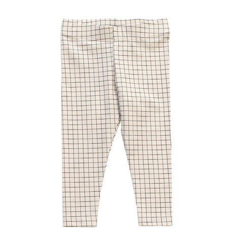 Beige with Black Grid pant