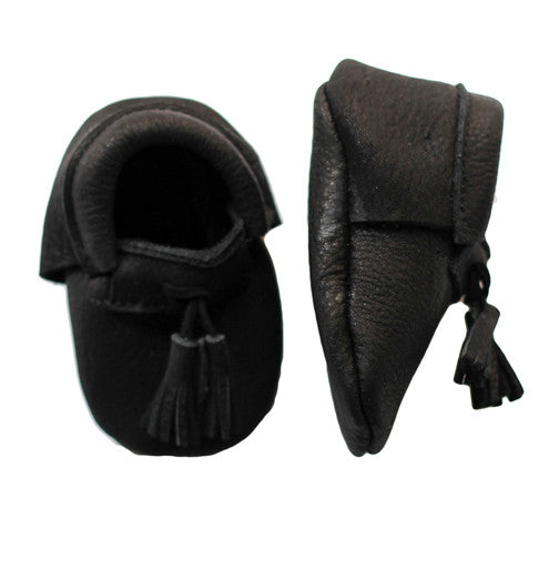 Black Baby Loafer Style Moccasin