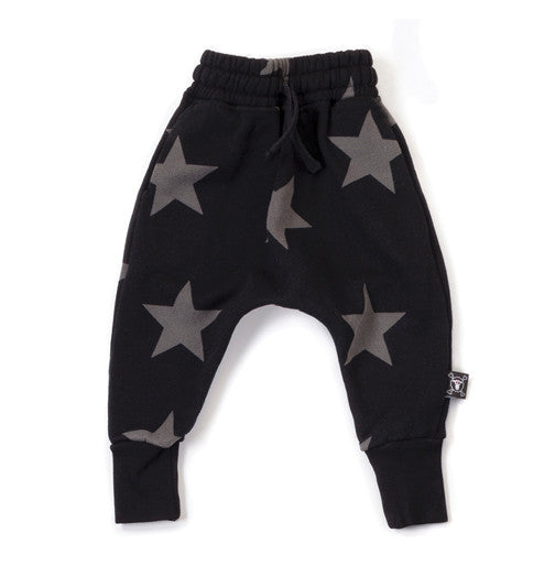Star Baggy Pants Black
