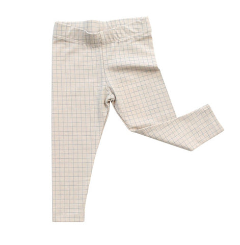Beige with Blue Grid Pant
