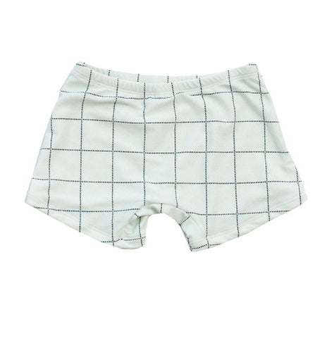 Pastel Blue Tartan Swim Trunk