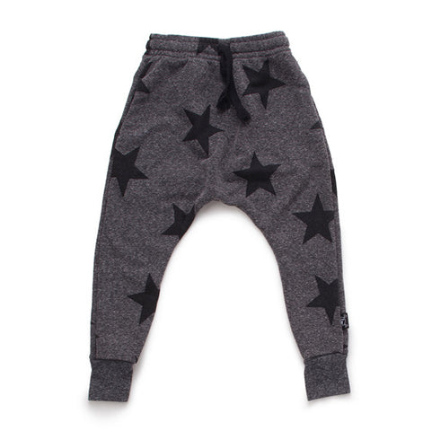 Charcoal Grey Baggy Star Pants
