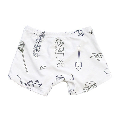 Garden Story Swim Trunks