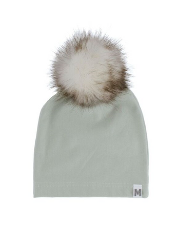 Mint Fur Pom Toque