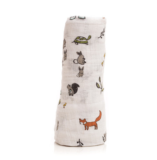 Little Unicorn Forest Friends Cotton Swaddle