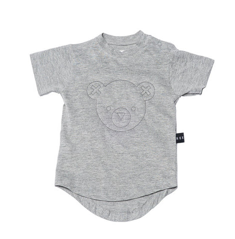 Grey Hux Bear Drop Back Tee