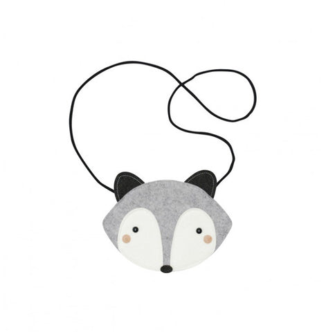 Grey Raccoon Bag