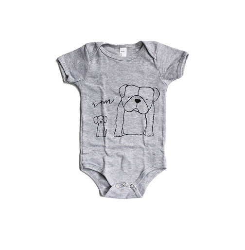 Rufus and Murdog One Piece Grey