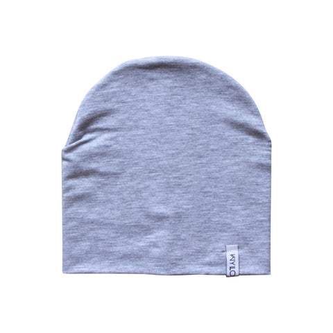 Heather Grey Bamboo Beanie