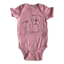 Rufus and Murdog one piece pink