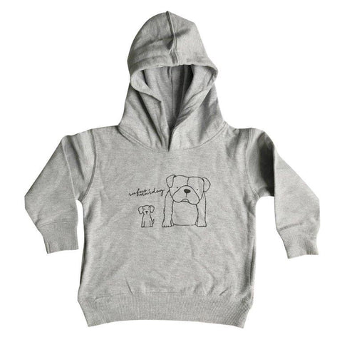 Rufus and Murdog Hooded Pullover Grey