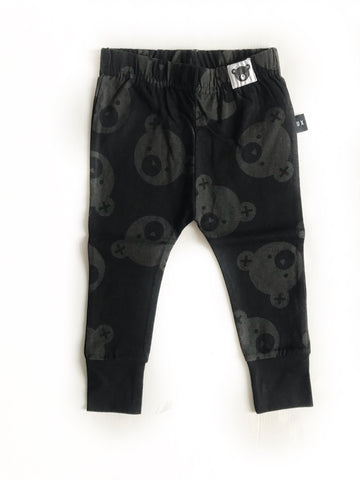 Black Falling Bears Skinny Legging