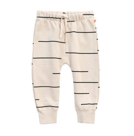 Beige Lines Fleece Sweatpant