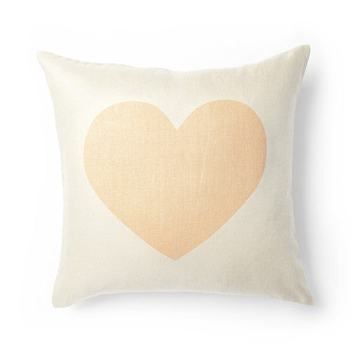 Giant Heart Pillow Cover - Bellini Peach
