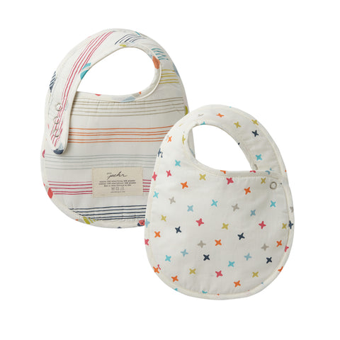 Little Peeps and Rainbow Jacks Bib Set